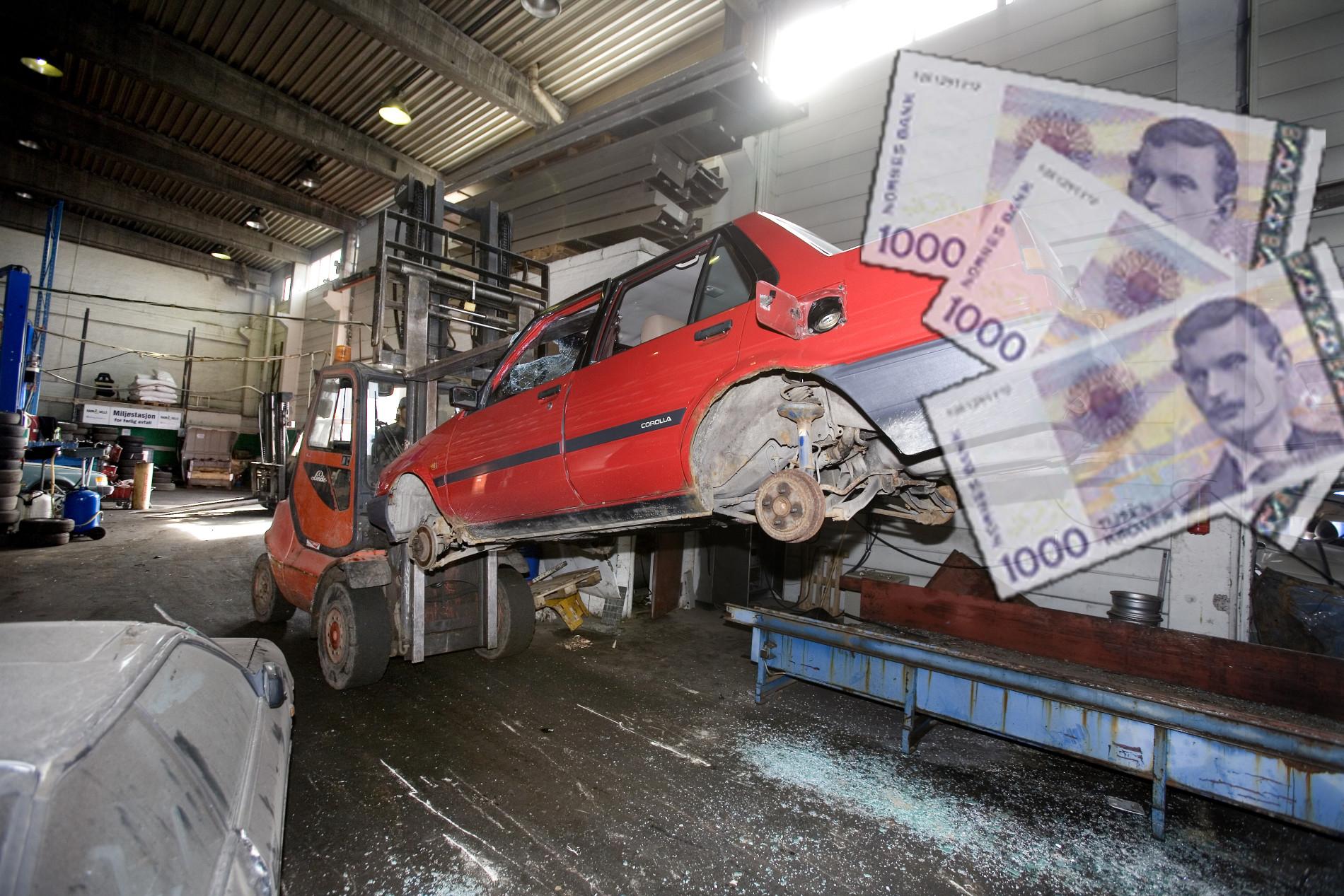 Fra 1. juli får du 3.000 kroner for bilvraket ditt!